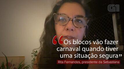 VÍDEO: 'Não é o momento de pensarmos em carnaval', diz presidente da Sebastiana
