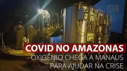VÍDEO: Cilindros de oxigênio chegam a Manaus para ajudar na crise de Covid no estado