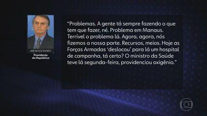 Bolsonaro diz que governo 'fez a parte dele' sobre situação crítica de Manaus