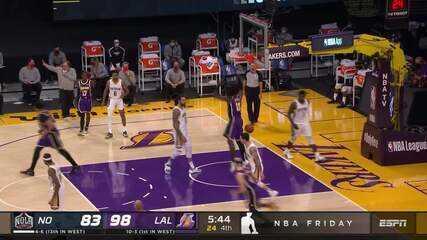 Melhores Momentos: Los Angeles Lakers 112 x 95 New Orleans Pelicans pela NBA