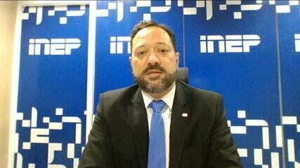 Presidente do Inep sobre o Enem: 'Foi positivo aplicar a prova para mais de 2 milhões de pessoas'