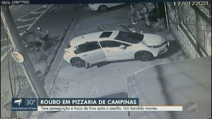 Assalto em pizzaria de Campinas termina em perseguição policial e uma morte