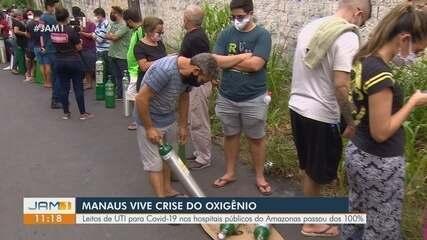 Crise de oxigênio atinge hospitais de Manaus