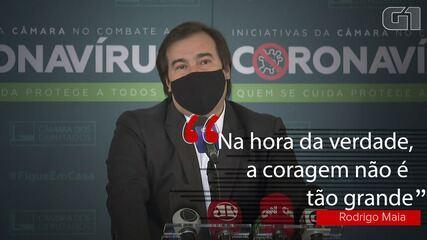 'Na hora da verdade, a coragem não é tão grande', diz Rodrigo Maia