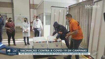 Técnica de enfermagem do HC é primeira a receber vacina contra a Covid em Campinas