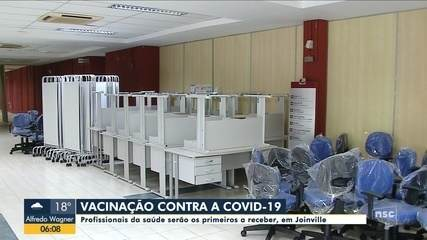 Profissionais da saúde serão os primeiros a receber vacina contra a Covid-19 em Joinville