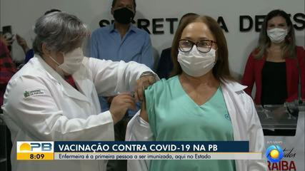 Enfermeira e indígena são primeiros vacinados contra a Covid-19 na Paraíba