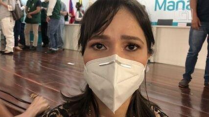 Médica é uma das primeiras profissionais a receber a vacina contra a Covid no AM