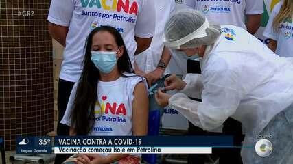 Vacinação contra a Covid-19 começa em Petrolina