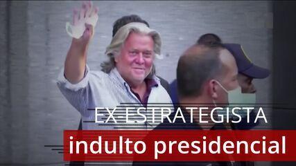 VÍDEO: Donald Trump concede indulto presidencial a ex-estrategista de campanha