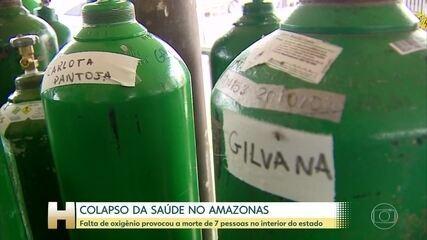 Amazonas recebeu 136 mil metros cúbicos de oxigênio enviados pela Venezuela
