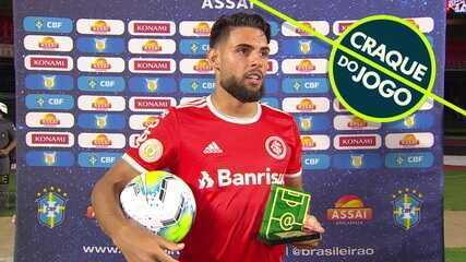 Craque do Jogo, Yuri Alberto exalta a goleada do Internacional sobre o São Paulo