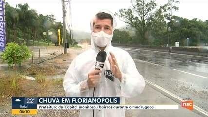 Florianópolis tem chuva intensa em várias cidades da região