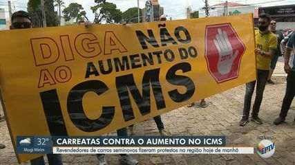 Vídeo mostra vias de Campinas fechadas por protesto contra aumento de 207% no ICMS