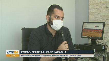 Com leitos de UTI de hospital lotados, Porto Ferreira decide regredir para fase laranja