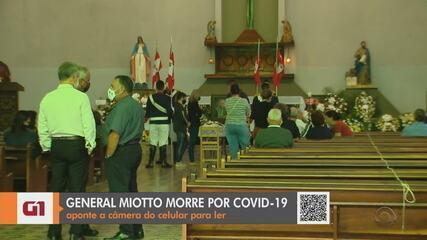 Velório do general Geraldo Miotto acontece em São Marcos, nesta quinta-feira (21)