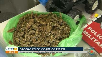 Homem foi preso por receber drogas pelo correio, em Campina Grande