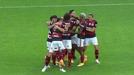 Os gols de Flamengo 2 x 0 Palmeiras, pela 31ª rodada do Brasileirão