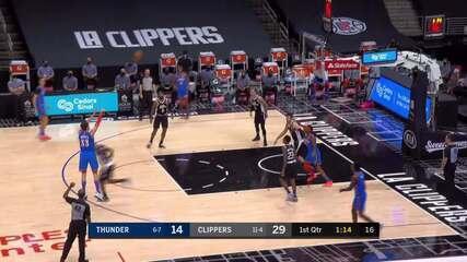 Melhores momentos: Los Angeles Clippers 120 x 106 Oklahoma City Thunder pela NBA