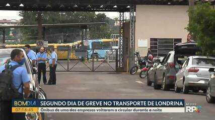 Duas empresas do transporte coletivo continuam em greve em Londrina