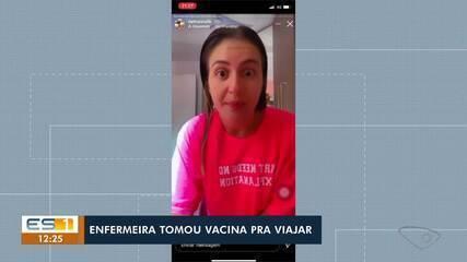 Enfermeira publica vídeos sem máscara no trabalho e debochando da CoronaVac