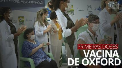 Fiocruz aplica as primeiras doses da vacina de Oxford vinda da Índia