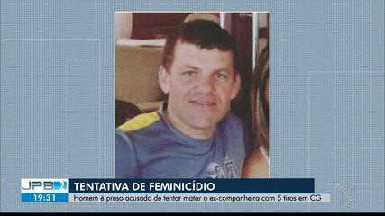 Homem é preso por suspeita de ter atirado na ex-companheira, em Campina Grande