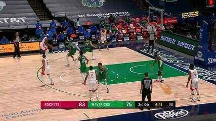 Melhores Momentos: Houston Rockets 133 x 108 Dallas Mavericks pela NBA