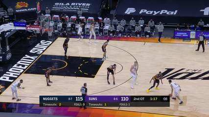 Melhores Momentos: Denver Nuggets 120 x 112 Phoenix Suns pela NBA
