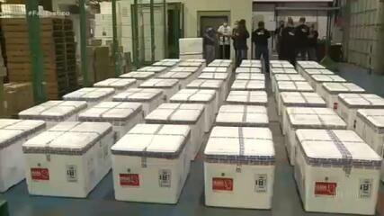 Fantástico mostra como os carregamentos de vacinas são distribuídos no Brasil