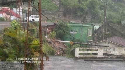 Chuva provoca estragos e mortes em Florianópolis