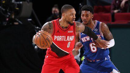 Melhores momentos: Portland Trail Blazers 116 x 113 New York Knicks pela NBA
