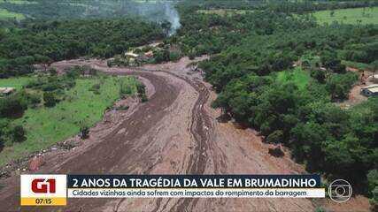 2 anos após tragédia da Vale, 4 cidades do entorno de Brumadinho ainda sofrem com impactos