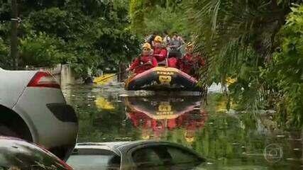 Grande Florianópolis está em alerta máximo para os riscos da chuva