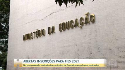 Fies 2021 abre inscrições nesta terça; seleção usará notas do Enem de 2010 a 2019
