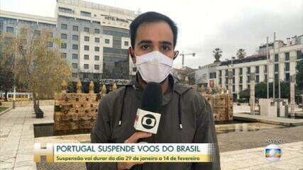 Portugal suspende voos entre o país e o Brasil