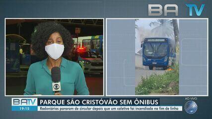 Ônibus é incendiado no Parque São Cristóvão e moradores ficam sem transporte