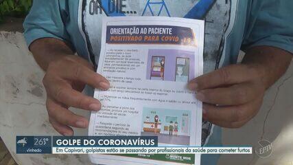 Golpista se disfarçam de agentes de saúde para realizar furtos em Capivari