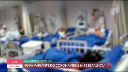 Nova variante brasileira do coronavírus está se espalhando pelo país