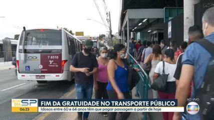 Idosos entre 60 e 64 anos passam a pagar passagem nos transportes públicos em SP
