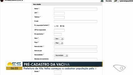 Prefeitura de Vila Velha começou a cadastrar população pela internet para vacinação