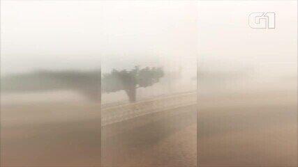 Chuva de granizo com forte vento causa estrago em Colônia do Gurgueia no Sul do Piauí