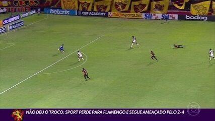 Sport perde para o Flamengo e se complica na Série A