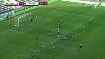 Árbitro vê gol em bola que não entrou e Manaus empata com o Paysandu