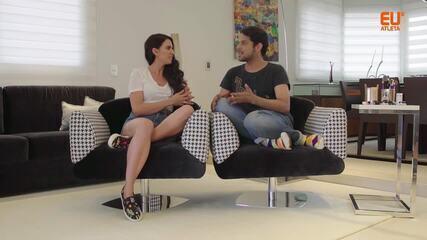 Analu conversa com o maquiador Renner de Souza, que dá dicas de maquiagem para academia