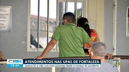 Aumenta atendimento nas UPAS de Fortaleza, em janeiro