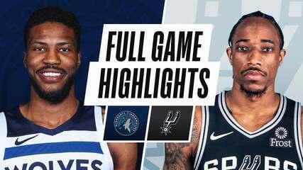 Melhores momentos: San Antonio Spurs 111 x 108 Minnesota Timberwolves pela NBA