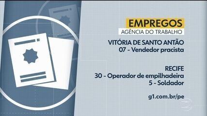 Confira vagas de emprego ofertadas pela Agência do Trabalho nesta quinta-feira
