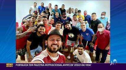 Fortaleza tem palestra motivacional com Bráulio Bessa antes de jogo contra Coritiba