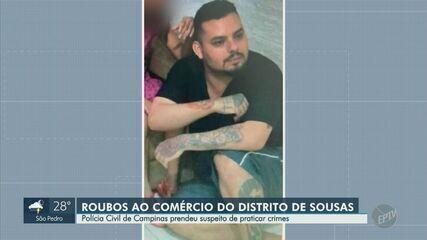 Polícia de Campinas prende suspeito de roubar comércios no distrito de Sousas